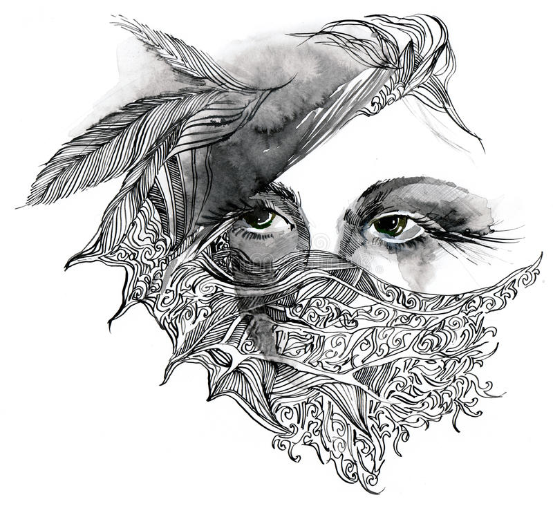 Download Abstract Decorated Face Stock Photo - Image: 23527180