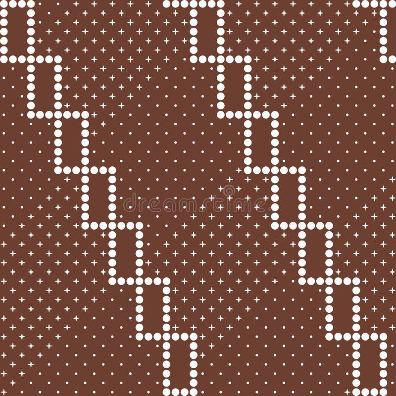Abstract decoratief batik naadloos patroon stock afbeelding