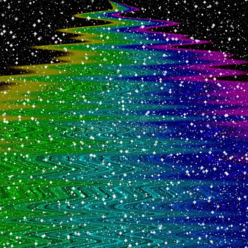 Abstract decoratief curvy convergerend regenboogpatroon vector illustratie