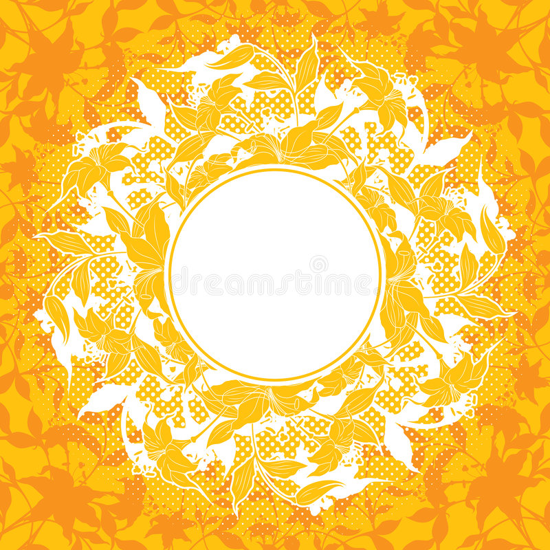 Download Abstract Decoration With Flower Elements, Vector Illustration Royalty Free Stock Photography - Image: 1763487