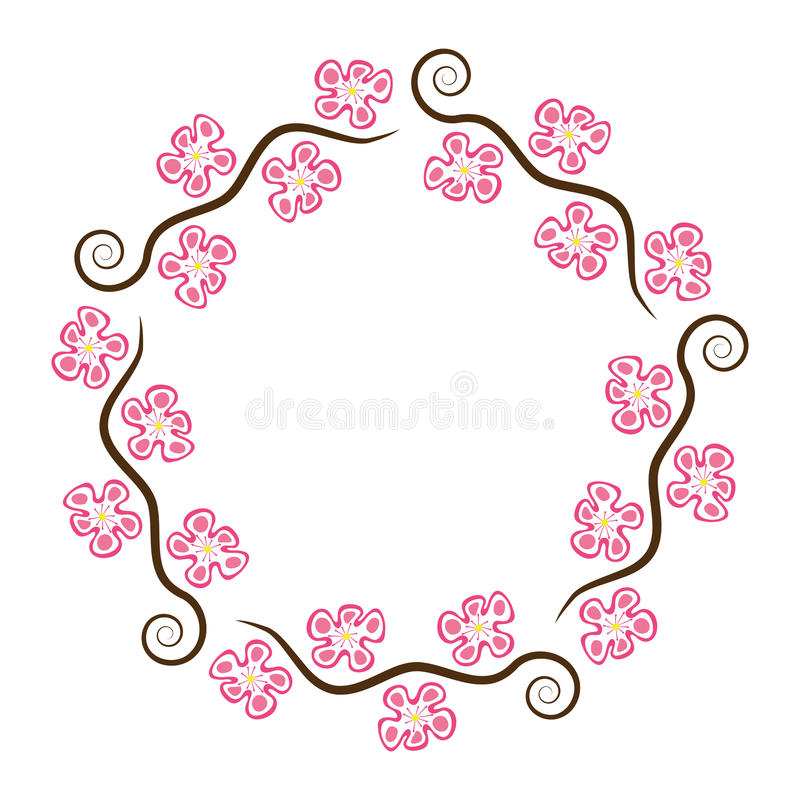 Abstract decoration pattern of cherry blossom, vector vector illustration