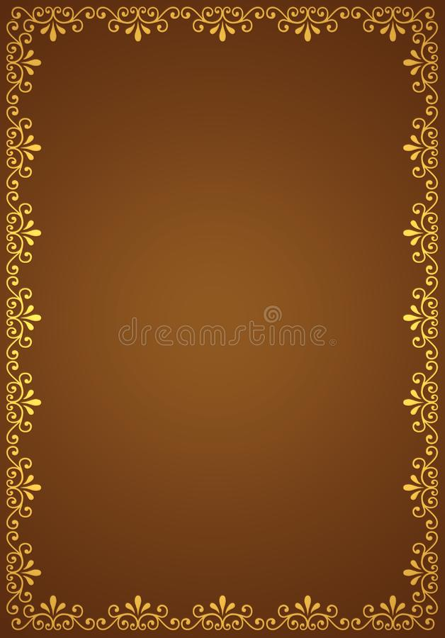 Abstract decorative border royalty free stock images
