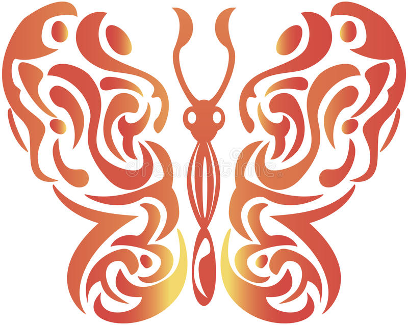 Abstract decorative butterfly - vector. Illustration royalty free illustration