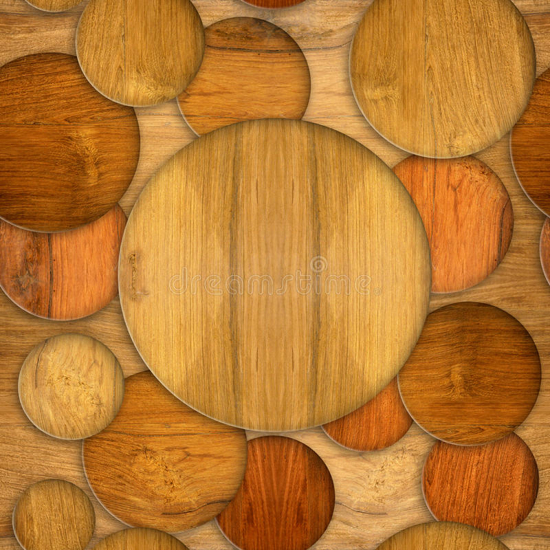 Abstract decorative circles - seamless background - Cherry wood. Texture stock photos