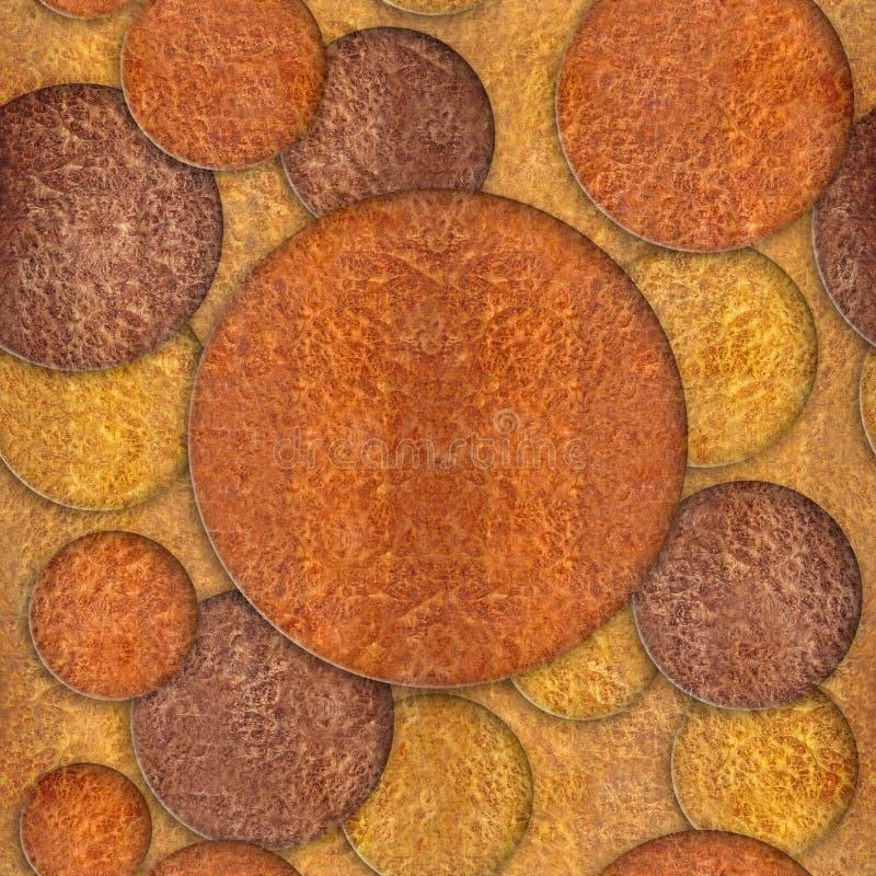 Abstract decorative circles - seamless background - wood texture. Abstract decorative circles - seamless background - Carpathian Elm wood texture royalty free stock photo