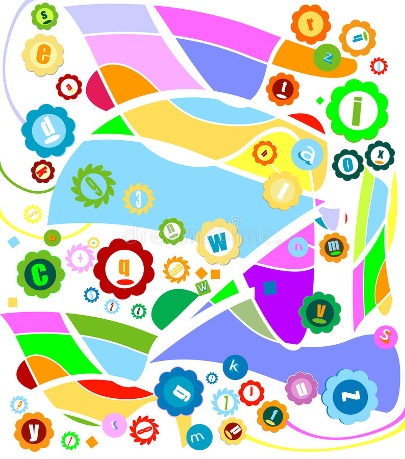 Download Abstract decorative design stock vector. Image of decoration - 5416138