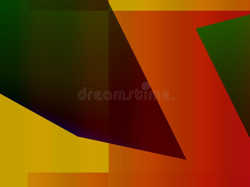 Abstract decorative dynamic expressionism advertising stock illustration