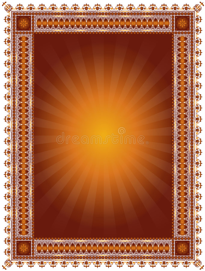 Abstract Decorative Frame stock illustration