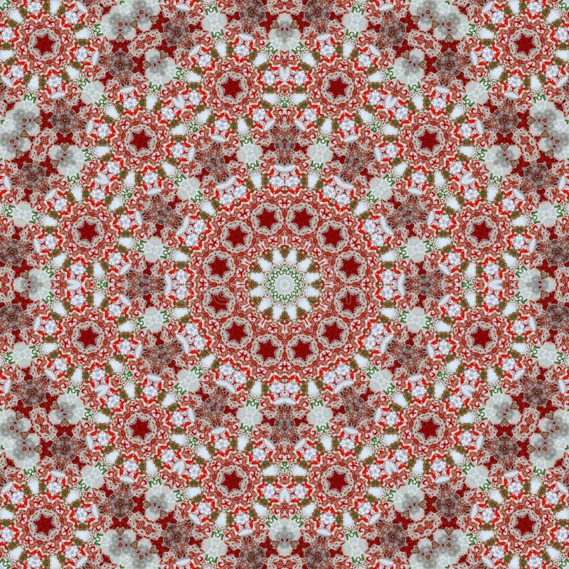 Abstract decorative multicolor mosaic texture - kaleidoscopic ornamental pattern stock illustration