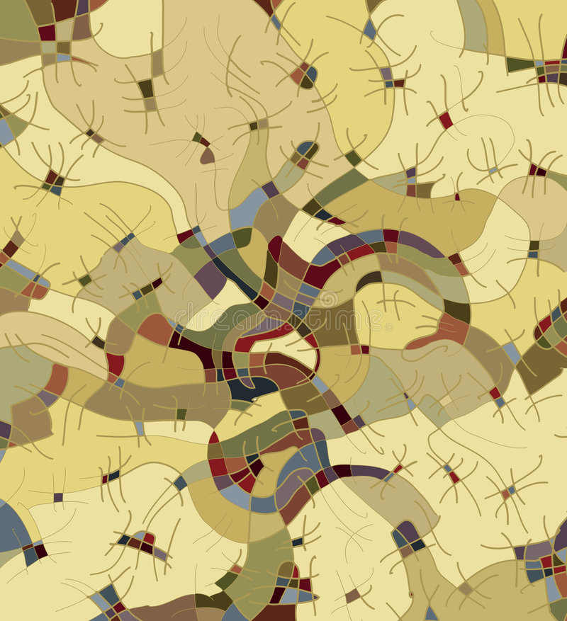 Abstract decorative structure III stock illustration