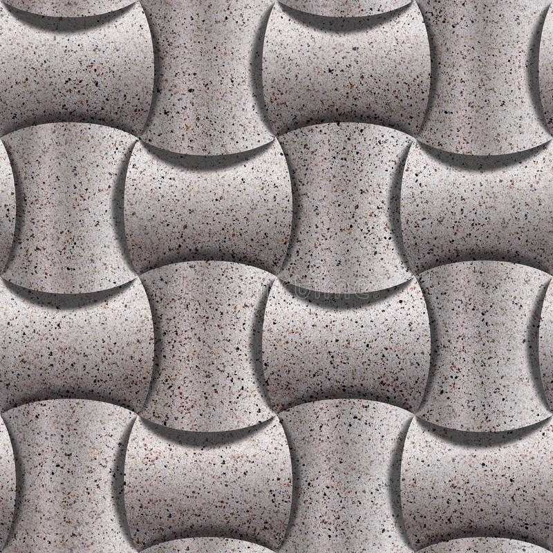 Decorative rounded blocks stacked for seamless background - decoration material - granular surface of stones stock illustration