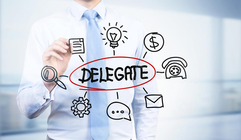 Abstract delegate sketch stock images