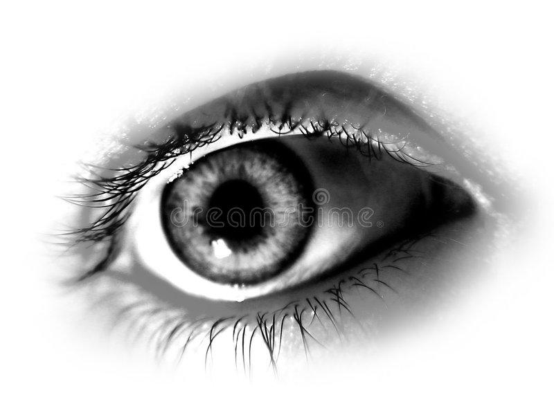 Abstract Desaturated Eye stock illustration