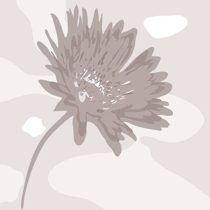 Abstract desaturated flower stock illustration