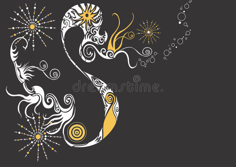 Abstract design stock illustration