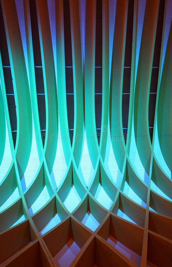 Abstract design. Abstract wooden design in a blueish light royalty free stock image