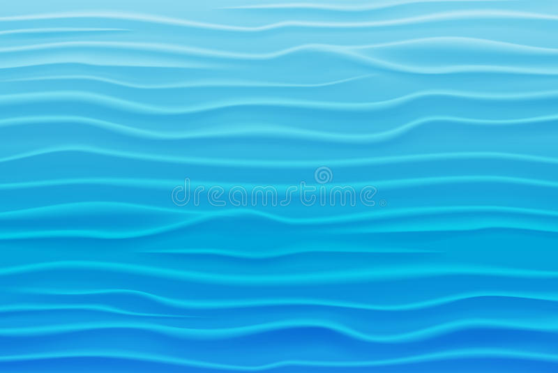 Abstract Design Background of Blue Waves stock illustration