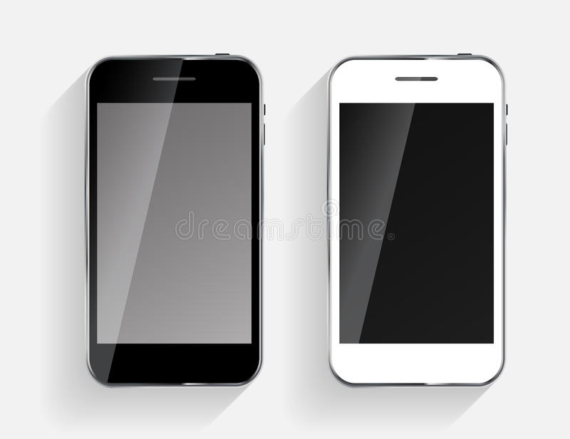 Abstract Design Black and White Mobile Phones. Vector Illustration vector illustration