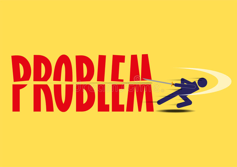 Abstract Design Business Problem Solving. Successful solution stock illustration