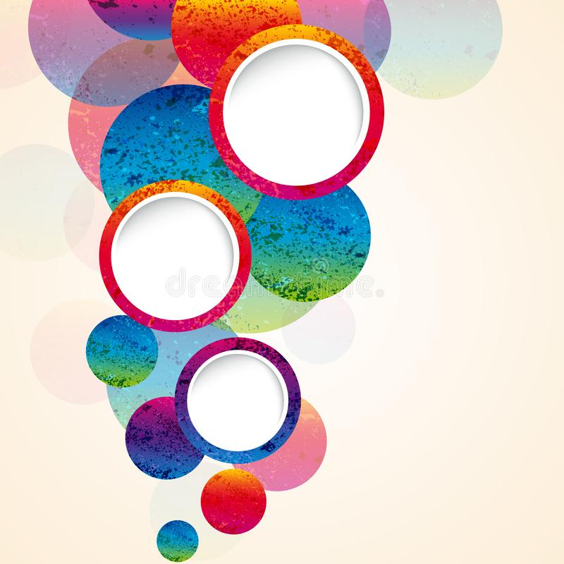 Abstract design circles background. vector. Illustration stock illustration