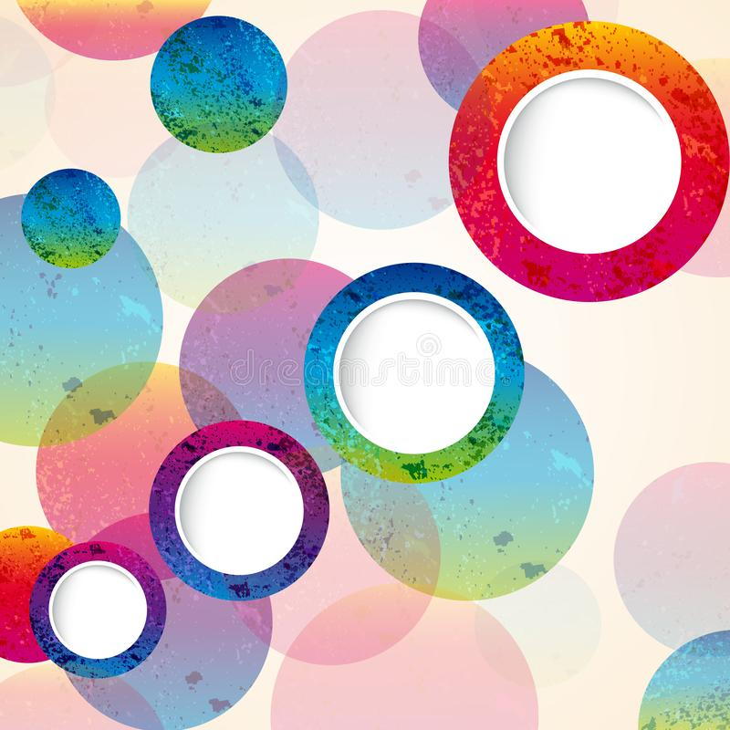 Abstract design circles background. vector. Illustration royalty free illustration