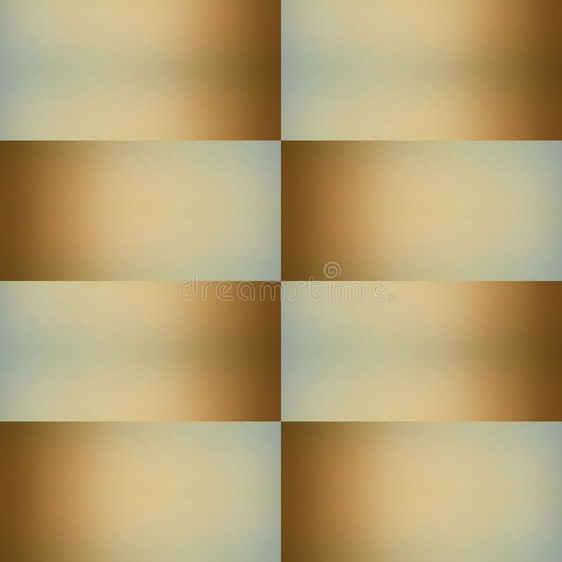 abstract design of collage from an opaque glass image with indirect light in brown and blue colors, background and texture vector illustration