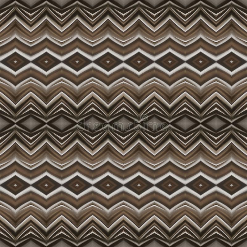Abstract design with curved lines and geometric pattern on a brown colour surface, background and texture. Backdrop for colors related ads, geometric pattern stock illustration