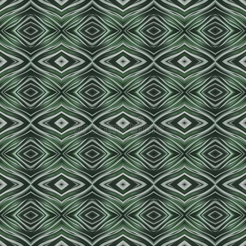 Abstract design with curved lines and geometric pattern on a green colour surface, background and texture. Backdrop for colors related ads, geometric pattern stock illustration