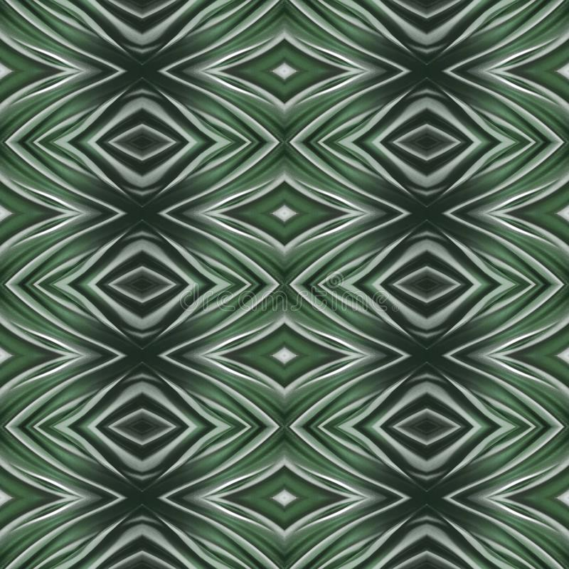 Abstract design with curved lines and geometric pattern on a green colour surface, background and texture. Backdrop for colors related ads, geometric pattern royalty free illustration