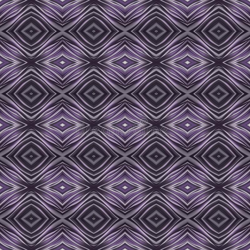 Abstract design with curved lines and geometric pattern on a purple colour surface, background and texture. Backdrop for colors related ads, geometric pattern stock illustration