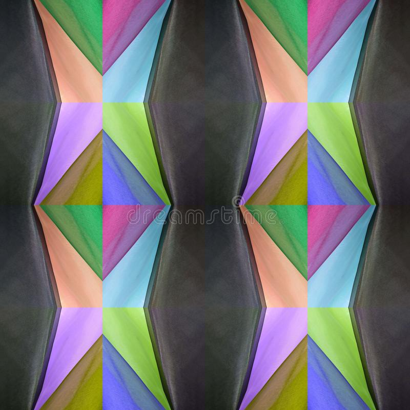 abstract design with cuts of fabric in various colors, background and texture vector illustration