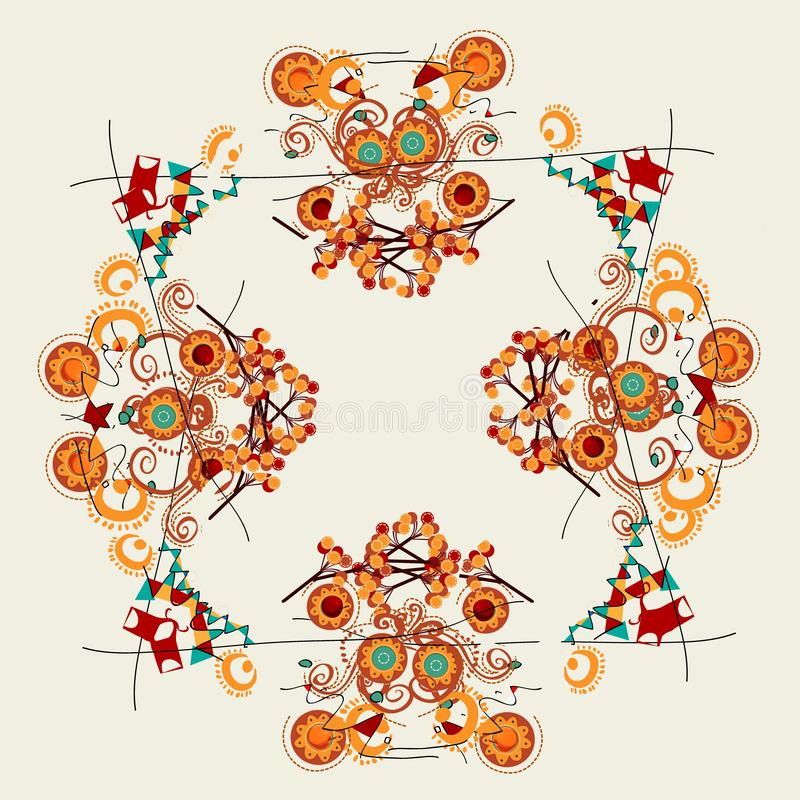 Floral abstract designs royalty free illustration