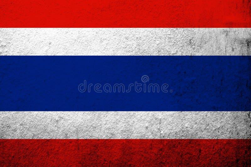 The Kingdom of Thailand National flag. Grunge background royalty free stock photography