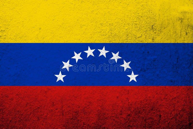 The Bolivarian Republic of Venezuela National flag. Grunge background stock images