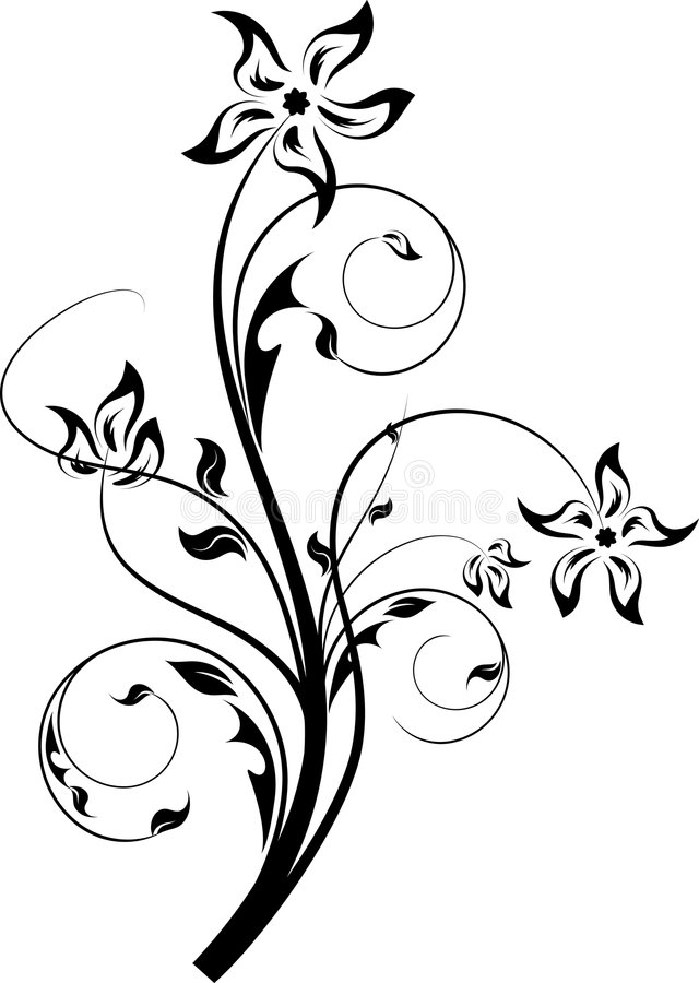 Abstract design floral element vector illustration