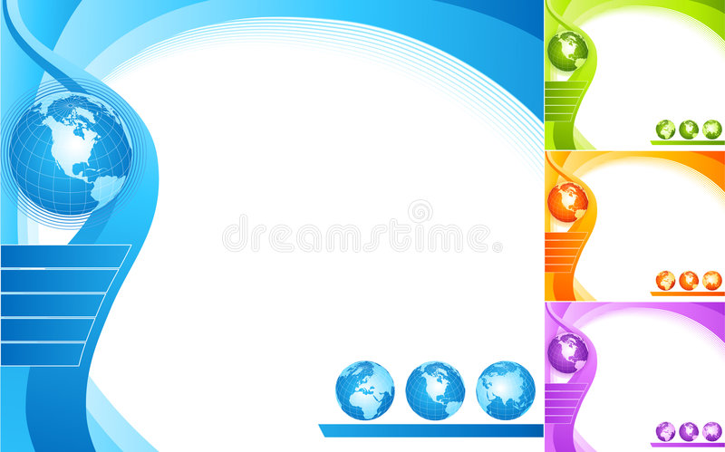 Abstract design with globe. vector illustration