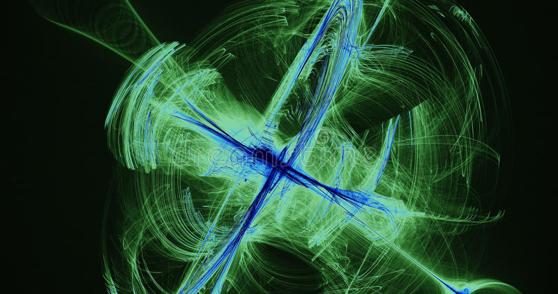 Abstract Design In Green And Blue On Black Background vector illustration