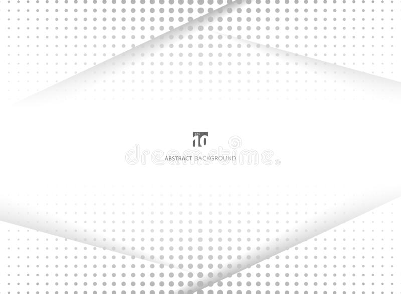 Abstract design halftone white and grey background. Decorative website layout or poster, banner, brochure, print, ad. Vector illustration royalty free illustration