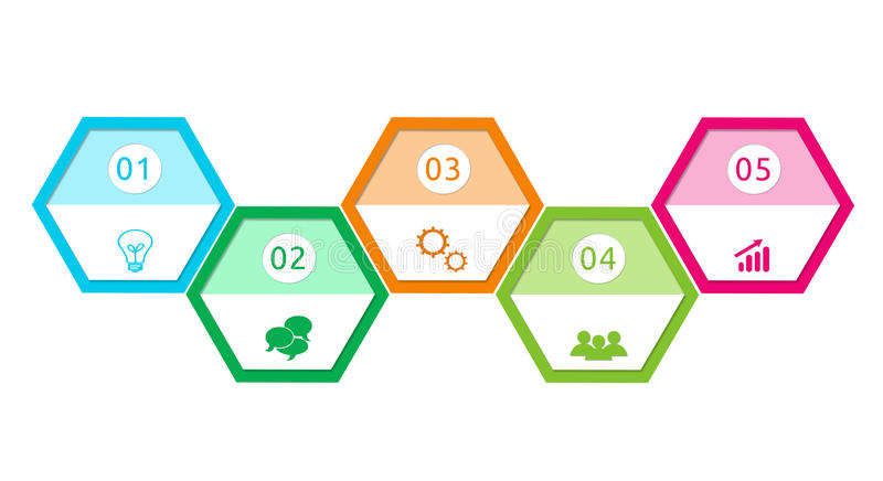 Download Abstract Design With Hexagons Stock Illustration - Illustration of info, chart: 39506687
