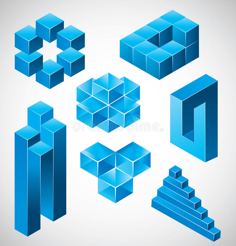 Abstract design impossible objects stock illustration - Figuras geometricas imposibles ...
