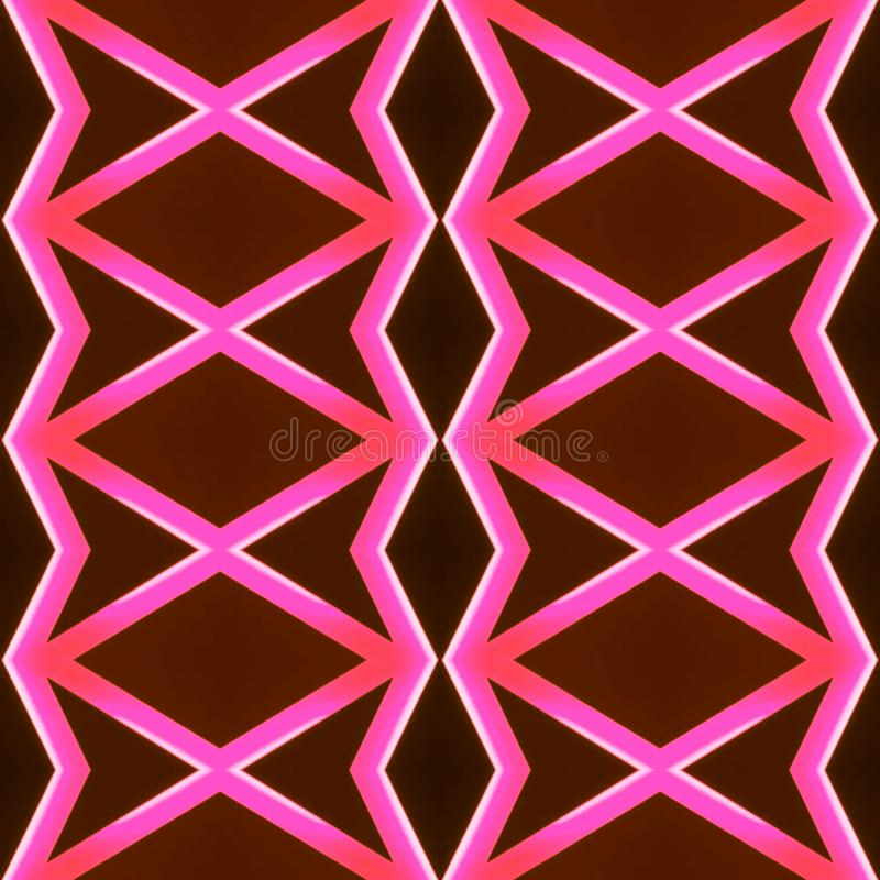 abstract design with neon light lines in pink color, background and texture stock photography