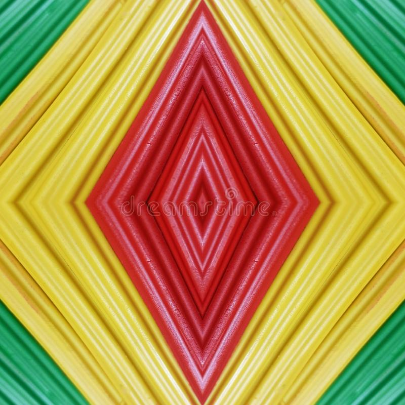 Abstract design with pieces of plasticine bars in colors green, yellow and red, background and texture. Backdrop for color-related announcements, school material royalty free stock photo