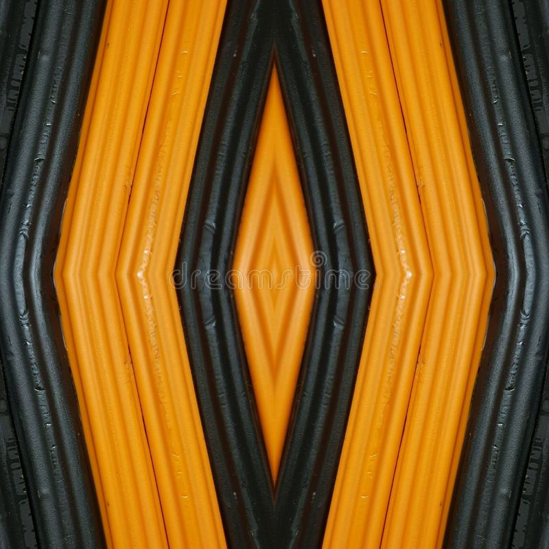 Abstract design with pieces of plasticine bars in colors orange and black, background and texture. Backdrop for color-related announcements, school material for stock photo