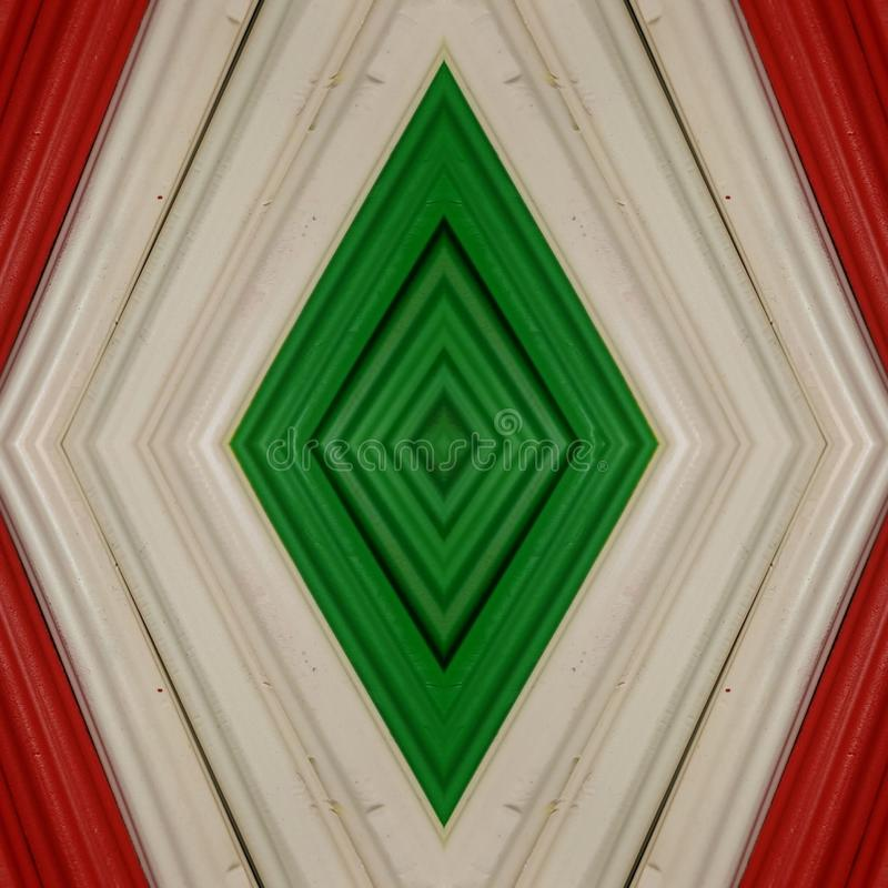 Abstract design with pieces of plasticine bars in colors white, green and red, background and texture. Backdrop for color-related announcements, school material stock images