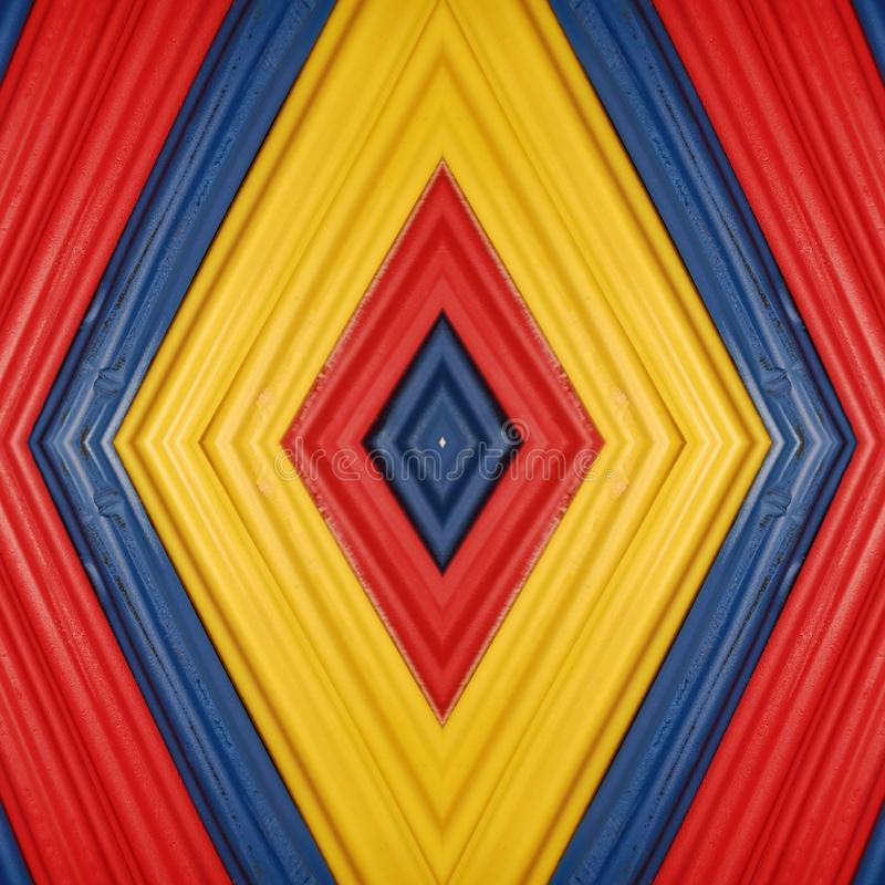 Abstract design with pieces of plasticine bars in colors yellow, blue and red, background and texture. Backdrop for color-related announcements, school material stock image