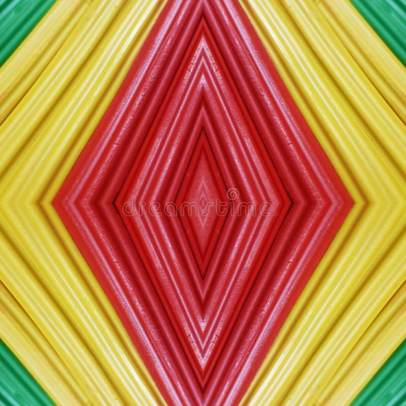 Abstract design with pieces of plasticine bars in colors yellow, green and red, background and texture. Backdrop for color-related announcements, school material stock images