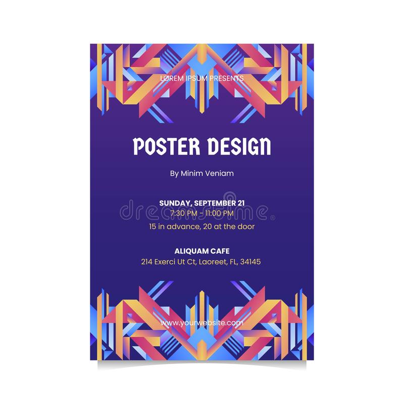 ABSTRACT DESIGN FOR POSTER. TEMPLATE royalty free stock photo