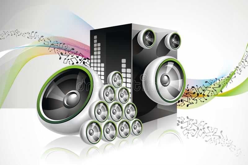 Abstract design with speakers. royalty free illustration