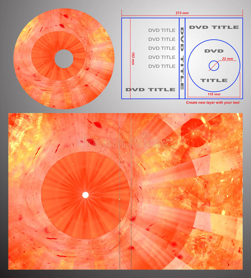 Abstract Design Template For Dvd Label And Box-cov Royalty Free Stock Images