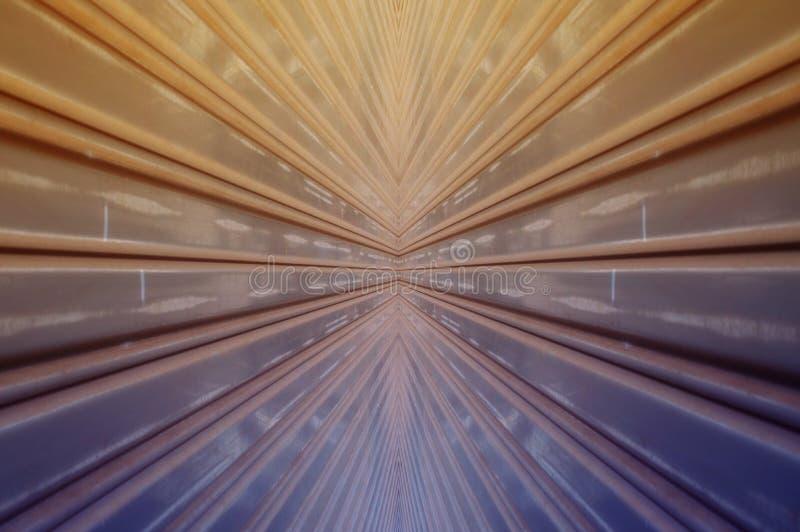 Abstract design, texture of shutter door or roller door for background. stock image